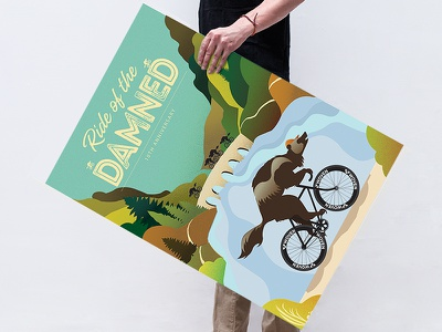 Ride of the Damned 10th Anniversary poster illustration digitalillustration branding poster cycling cyclingevent