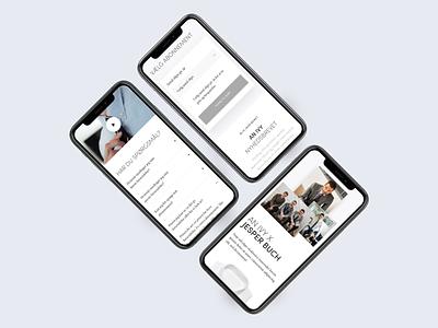 AN IVY Mobile Web Design mobile web design fashion webshop mobile ui ux design webdesign web mobile web