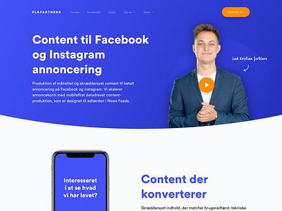 Frontpage Web Design for PL & Partners agency website website agency marketing web desktop web webdesign web