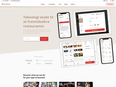 Frontpage Web Design - QuickOrder.io quickorder web design landing page ui design webdesign web