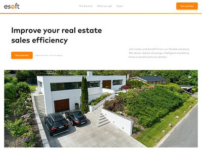 Esoft Web Design Landing Page web design landing page ui design webdesign web