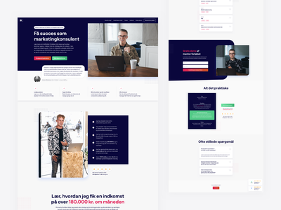 Landing Page - Kasperknudsen.com landing page web webdesign
