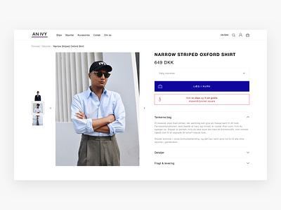 An Ivy Desktop Web Design - E-commerce website landing page web shop webshop shop fashion product page product design webdesign web