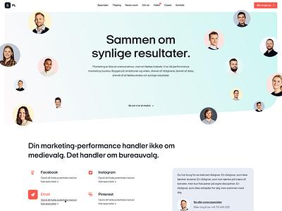 PL & Partners - Front Page Web Design branding website web design ux ui landing page design webdesign web