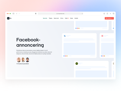 PL & Partners - Facebook Advertising Landing Page. branding web design ux ui landing page design web webdesign