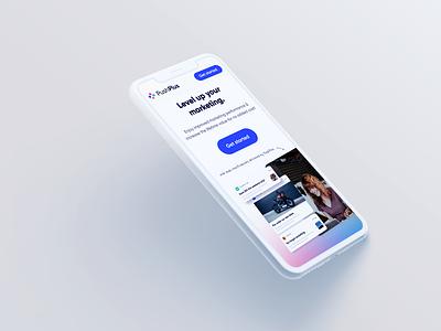 Web design for PushPlus - Online push notifications service. web design landing page ui design webdesign web