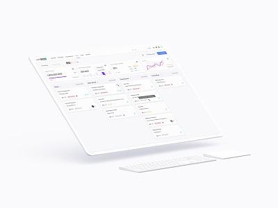 CRM Kanban Board Design - webCRM design system ux ui backoffice crm kanban board kanban