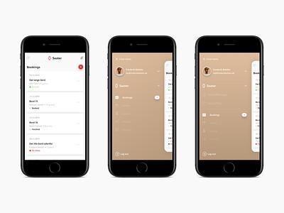 IOS Burger Menu Design for QuickManager ios app