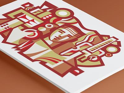 USSR Mosaic flat flat  design mosaic ussr vector illustrator illustration design