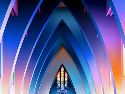Architecture church art amadine vector illustartion architecture