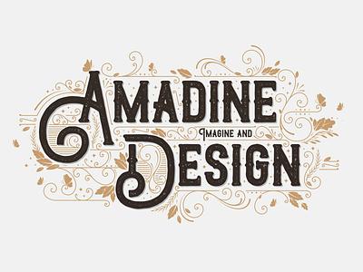 Amadine Design typography branding art illustration design vector amadine
