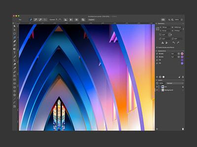 User Interface of Amadine Vector Design Software for Mac belight software amadine design app vector icons interace ux ui design ui