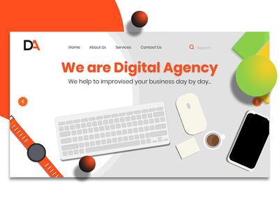 Digital Agency website header