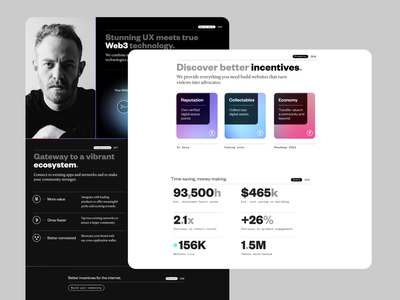 Better Incentives - A Web3 Landing Page website light ui dark mode incentives landingpage crypto wallet cryptocurrency crypto web3