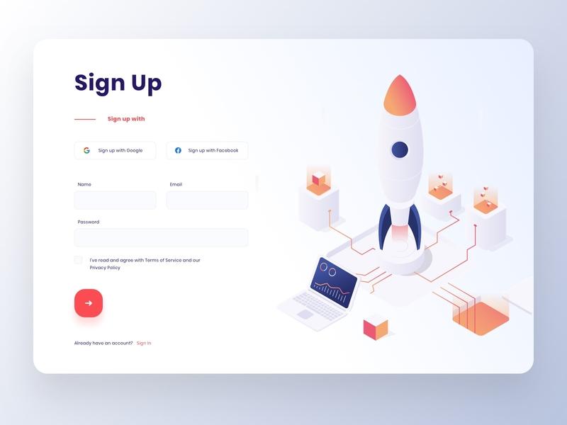 Sign Up Form web app design web signupform sign up signup minimal design illustration ux ui