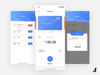 Manage Bills App concept