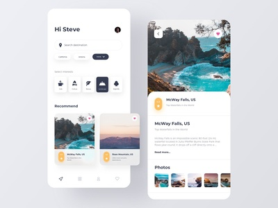 Travel Booking - App Concept