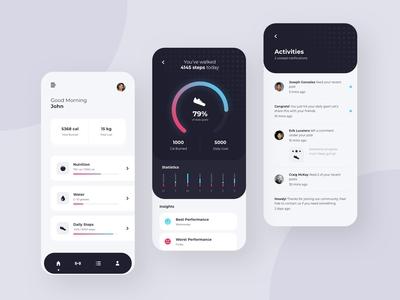 Health & Fitness - App Concept