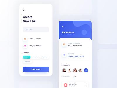 Task Management - App Concept team tasks task management personal mobile minimal flat design clean branding app ux ui