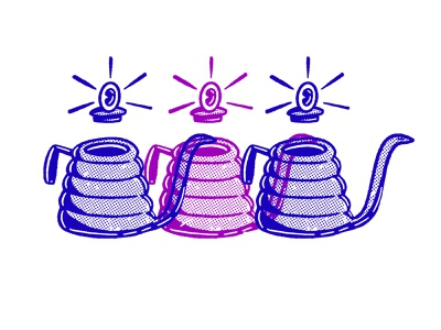 Kettle Characters repetition color design character illustration