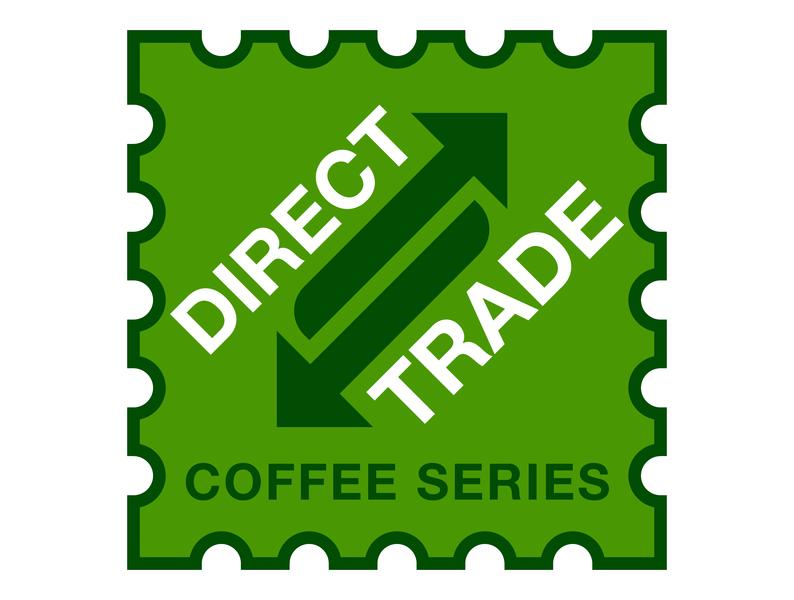 Meta Coffee Direct Trade Stamp small sticker stamp illustration typography monoline minimal monochrome design bold modernism illustrator coffee