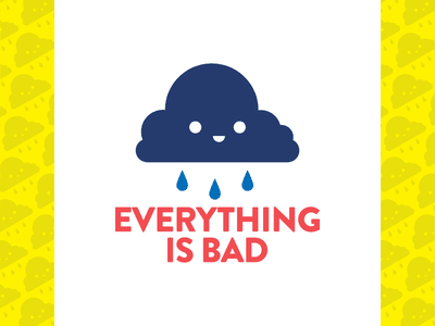 Everything is Bad icon illustrator typography branding logo design character illustration vector