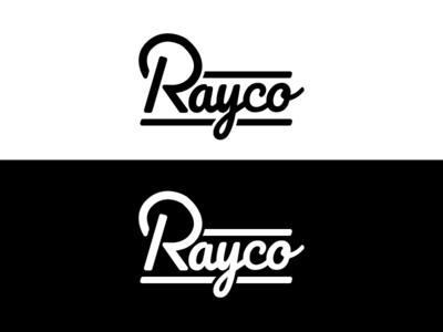 Rayco Logo Concept monoline logo logotype typedesign wordmark lettering handlettering monoline typography design vector illustration logo