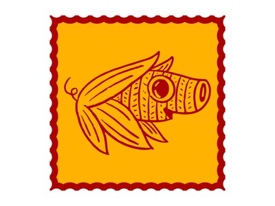 Pork Tamale corn illustration pork tamale pig character branding alebrije