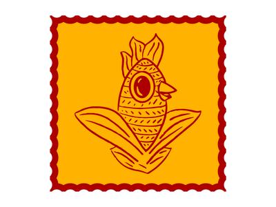 Chicken Tamale tamale chicken corn branding character alebrije