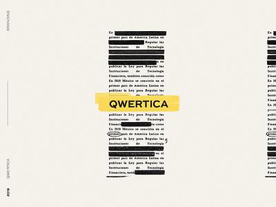 Qwertica editorial design keyboard qwerty editorial text editor writting logo brand identity branding design
