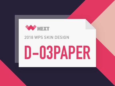 D-03 PAPER-WPS Concept Design