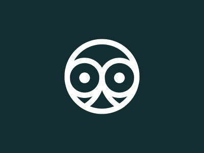 Bluesticker Logo vector shape round owl mark logo illustration head eye design bird animal