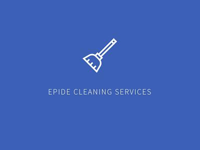 Epide Dribble simple broom cleaning vector shape mark logo illustration design