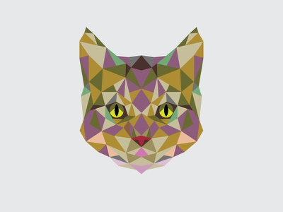 Triangle Cat shape pattern geometric abstract cats triangles illustrator vector