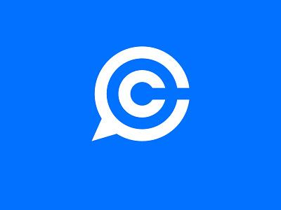 C Logo typography c letter story vector illustrator chat mark logo