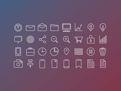 Business Icons business line stroke simple pack minimal icons icon glyph