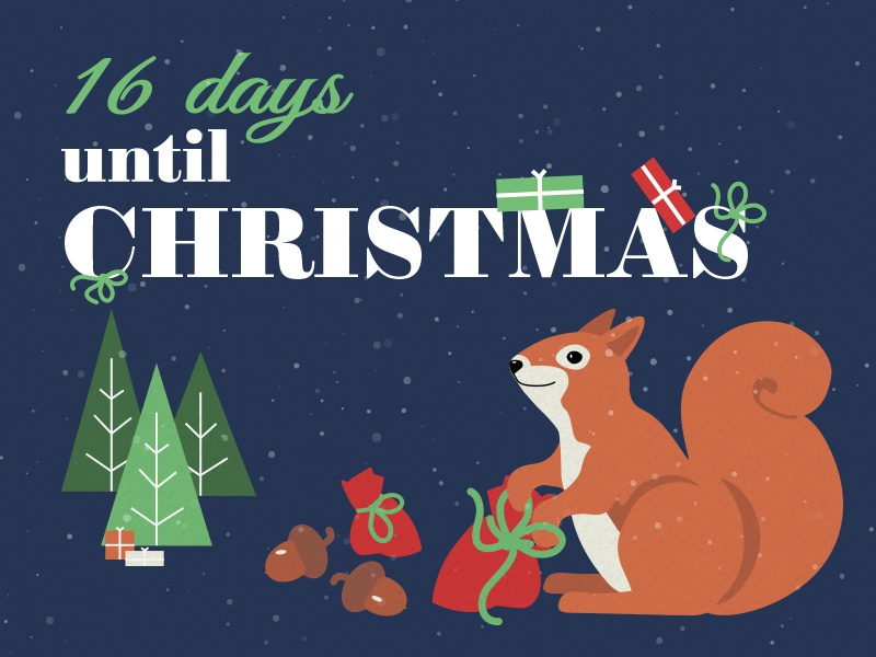 16 Days until Christmas | Search by Muzli