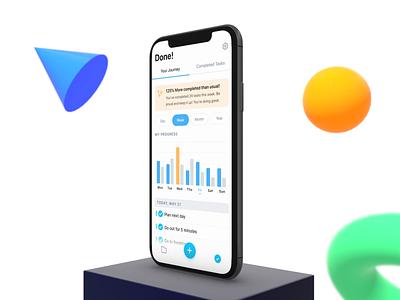 ✅ Done! - Intelligent Productivity App motion ae app design ux ui animation