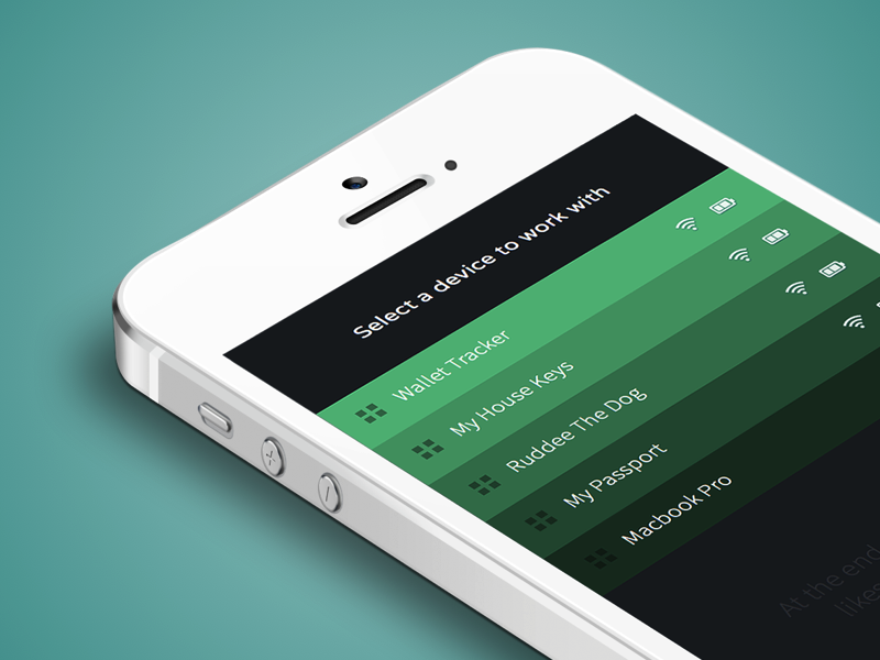 Select Device ui interface user-interface design clean mobile app application iphone ios mobile-application