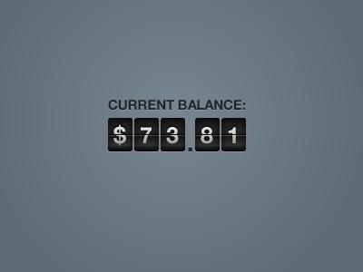 Shot balance ticker