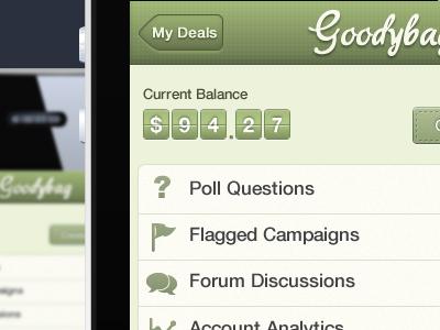 Goodybag iphone app shot