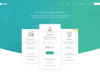 Pricing colorful user-interface abstract iconography icons slider ux ui clean design table pricing