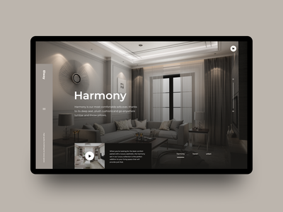 Harmony wordpress home application typography landing page site marketing landing website app homepage interface ui user-interface clean design