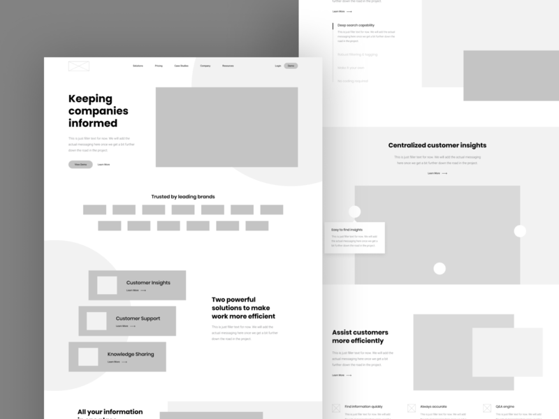 Wireframes wire user experience ux wireframe page wireframe landing wordpress landing page home site homepage website interface user-interface ui clean design