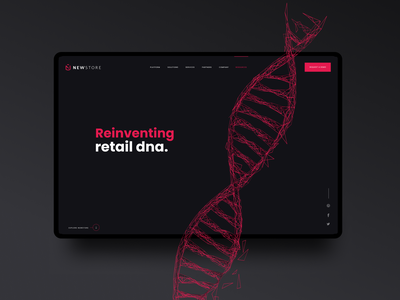 Reinventing Retail DNA landing app website marketing ux ui hero homepage webdesign retail design saas website saas design saas b2b wordpress retail omnichannel