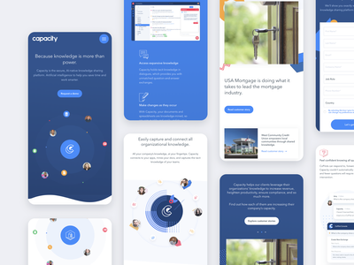 Capacity Mobile development wordpress saas landing page illustration clean design interface user interface ux ui responsive web design saas website saas design saas app saas b2b mobile app mobile reponsive design responsive