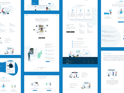 Website Redesign for Truepic user-interface ui site website vector application app illustration clean design landing page homepage saas website mossio saas security