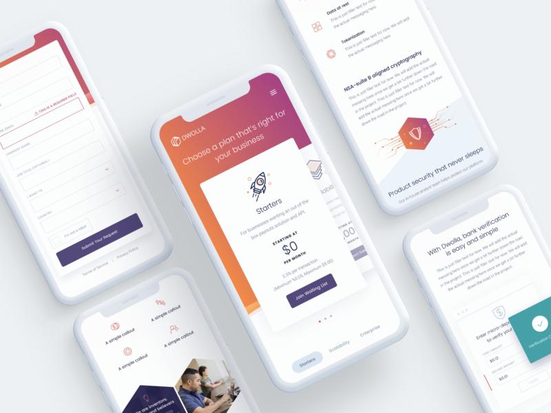 Responsive Website Design for Dwolla