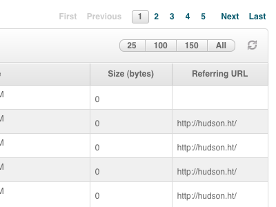 New table table reload pagination page count