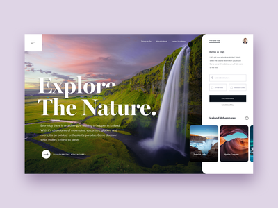 Explore Nature marketing home website user-interface clean design user experience interface user interface ux ui landing landing page homepage